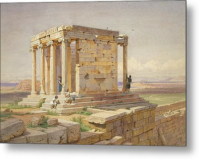 The Temple Of Athena Nike. View From The North-east Metal Print by Carl Werner