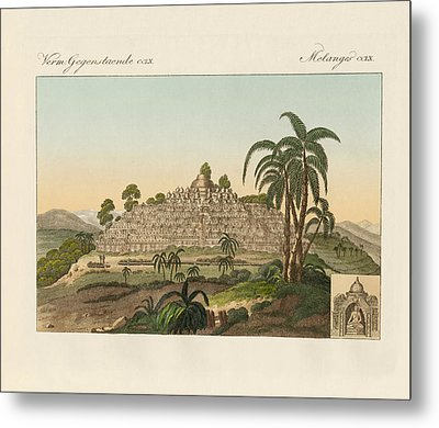 The Temple Of Buddha Of Borobudur In Java Metal Print by Splendid Art Prints