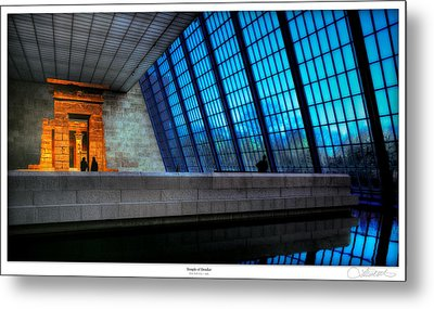 The Temple Of Dendur Metal Print by Lar Matre