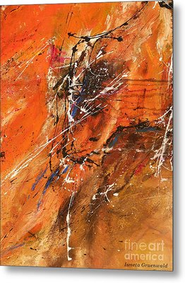 The Temptation -abstract Art Metal Print by Ismeta Gruenwald