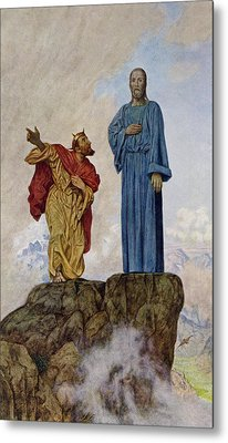 The Temptation Of Christ Metal Print by Hans Thoma