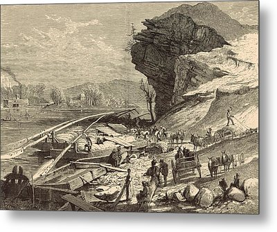 The Tennessee At Chattanooga 1872 Engraving Metal Print by Antique Engravings