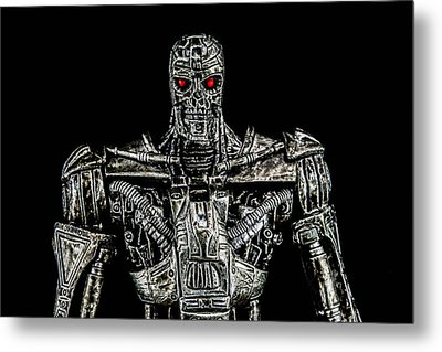 The Terminator  Metal Print by Tommytechno Sweden