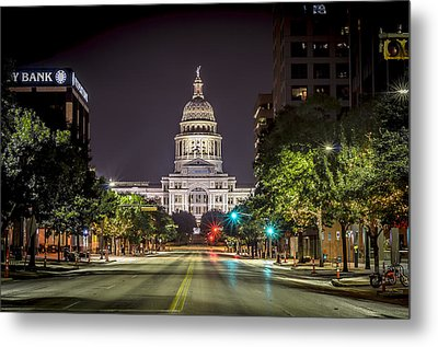 The Texas Capitol Building Metal Print
