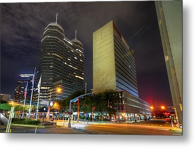The Texas Medical Center At Night Metal Print by Tim Stanley