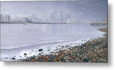The Thames From Lowell's Wharf Greenwich  Metal Print by Eric Bellis