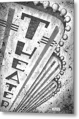The Theater Metal Print by Adam Zebediah Joseph