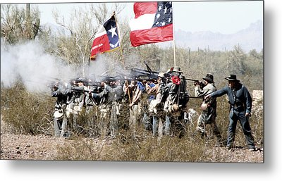 The Thin Gray Line Metal Print by Joe Kozlowski