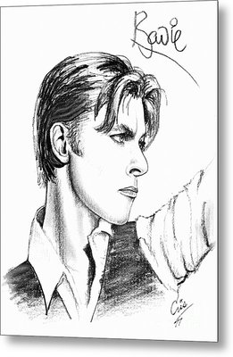 The Thin White Duke Metal Print by Cristophers Dream Artistry