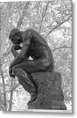 The Thinker - Philadelphia Bw Metal Print