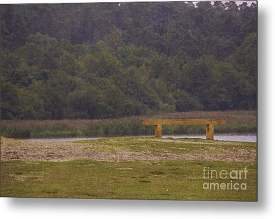 The Thinking Bench Metal Print by Michelle Orai