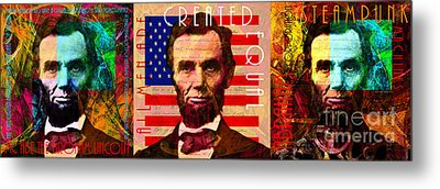 The Three Abes 20140218 Metal Print by Wingsdomain Art and Photography