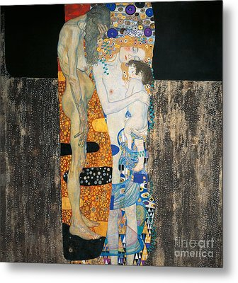 The Three Ages Of Woman Metal Print by Gustav Klimt