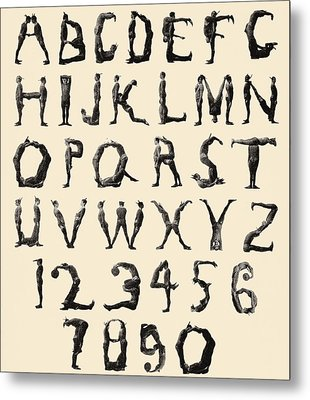 The Three Delevines Satanic Gambols Human Alphabet. The Three Delevines Were An 1897 Music Hall Metal Print by English School