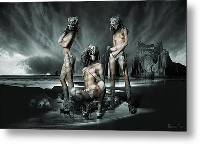 The Three Graces Metal Print by George Grie