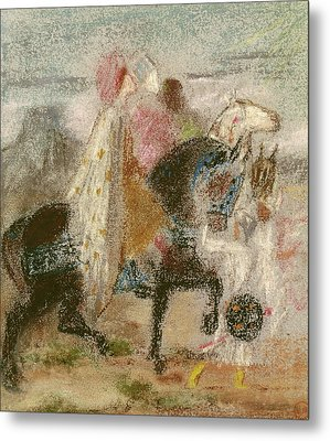 The Three Magi, Started In 1860 And Reworked After 1882 Pastel On Paper Metal Print