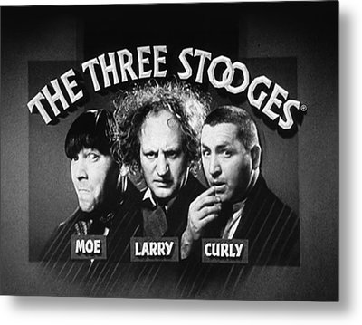 The Three Stooges Opening Credits Metal Print by Official Three Stooges