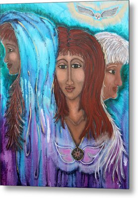 The Three Metal Print by Wendy Hassel