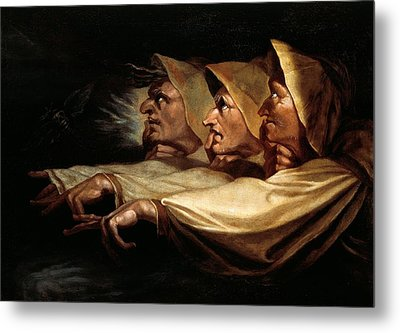 The Three Witches Metal Print by Henry Fuseli