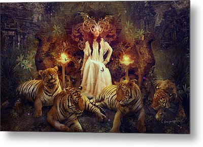 The Tiger Temple Metal Print by Cassiopeia Art