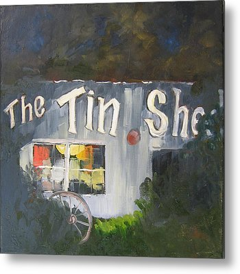 The Tin Shed Metal Print by Susan Richardson