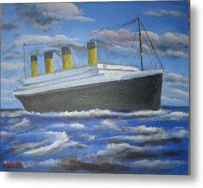 The Titanic Metal Print by M Bhatt