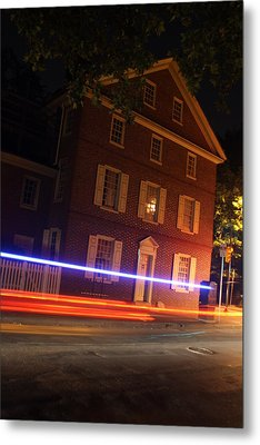 Metal Print featuring the photograph The Todd House Philadelphia by Christopher Woods