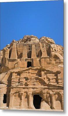 The Tomb Of Obelisks, Petra, Jordan Metal Print by Keren Su