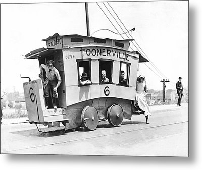 The Toonerville Trolley Metal Print by Underwood Archives