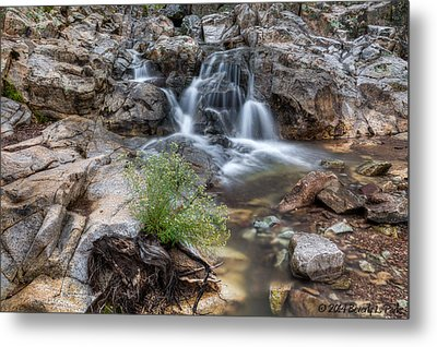 The Top Of Carr Canyon Falls Metal Print