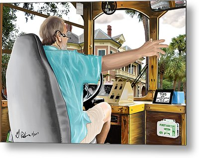 The Tour Guide Metal Print by Gerry Robins