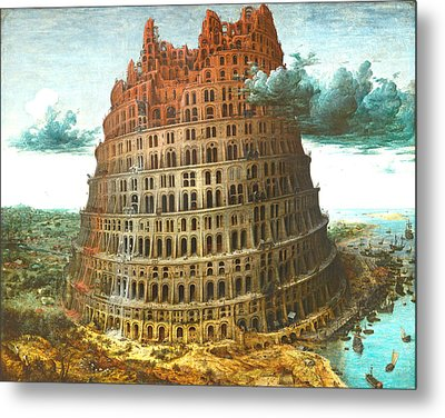 The Tower Of Babel Metal Print by Miguel Rodriguez