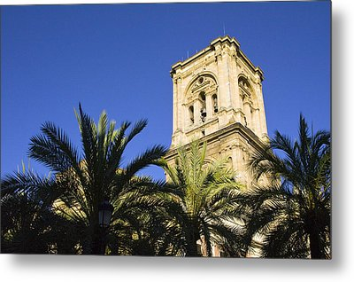 The Tower Of The Cathedral Of The Incarnation Metal Print by John Rocha