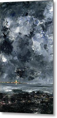 The Town Metal Print by August Johan Strindberg