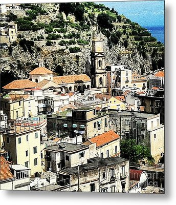 The Town Of Minori Metal Print by H Hoffman