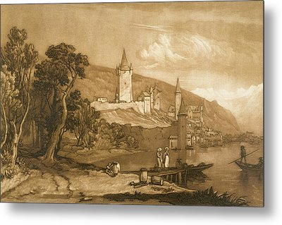 The Town Of Thun Metal Print by Joseph Mallord William Turner