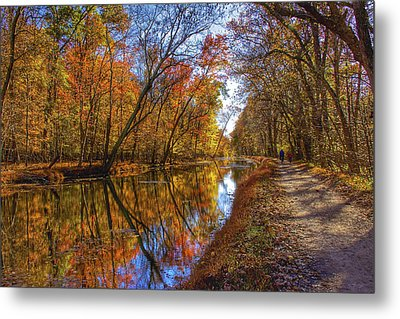 The Towpath Metal Print
