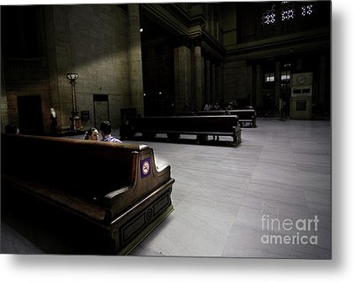 The Train Station Lobby Art Deco Style Metal Print