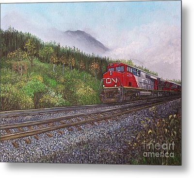 The Train West Metal Print