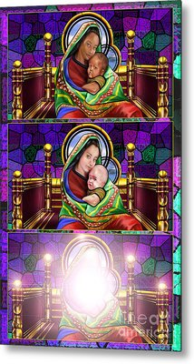 The Transfiguration Of Madonna And Child  Metal Print by Reggie Duffie