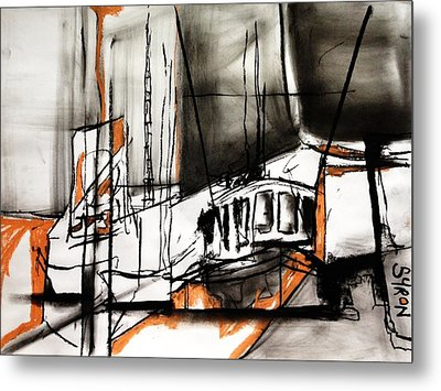 The Trawlers Metal Print by Helen Syron