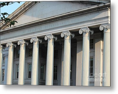The Treasury Department Metal Print by Cynthia Snyder