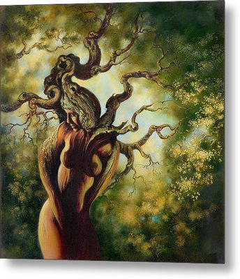 The Tree Metal Print by Anna Ewa Miarczynska