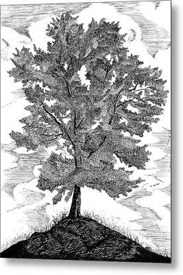 The Tree Metal Print by Carl Genovese