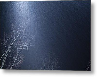 The Tree Under The Snowfall Metal Print