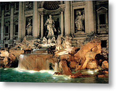 The Trevi Fountain Metal Print by Warren Home Decor