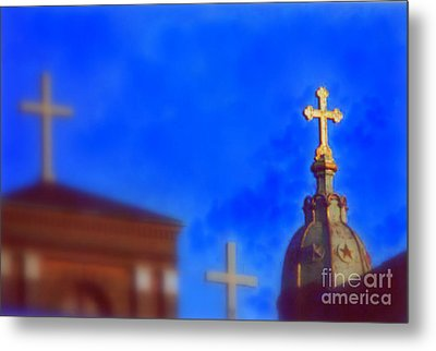 Metal Print featuring the photograph The Trinity New Orleans Irish Channel by Michael Hoard