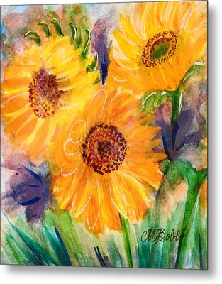 Metal Print featuring the painting The Trio by Margaret Bobb