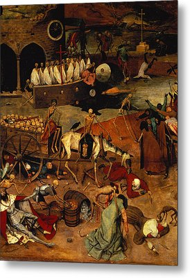 The Triumph Of Death Metal Print by Pieter the Elder Bruegel