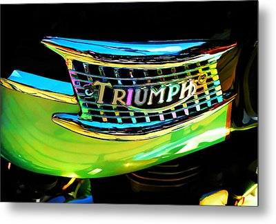 The Triumph Petrol Tank Metal Print